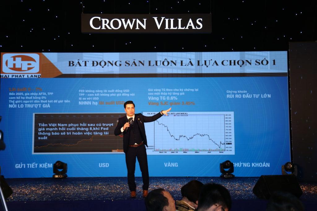 Chủ tịch Nguyễn Quốc Huy chia sẻ về tính duy nhất của khu đô thị Crown Villas